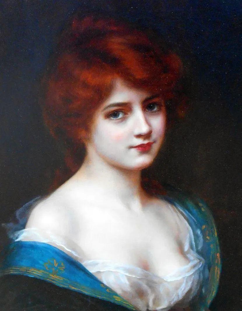 英国古典大师笔下,少女的肤色和薄纱,细腻柔和!插图