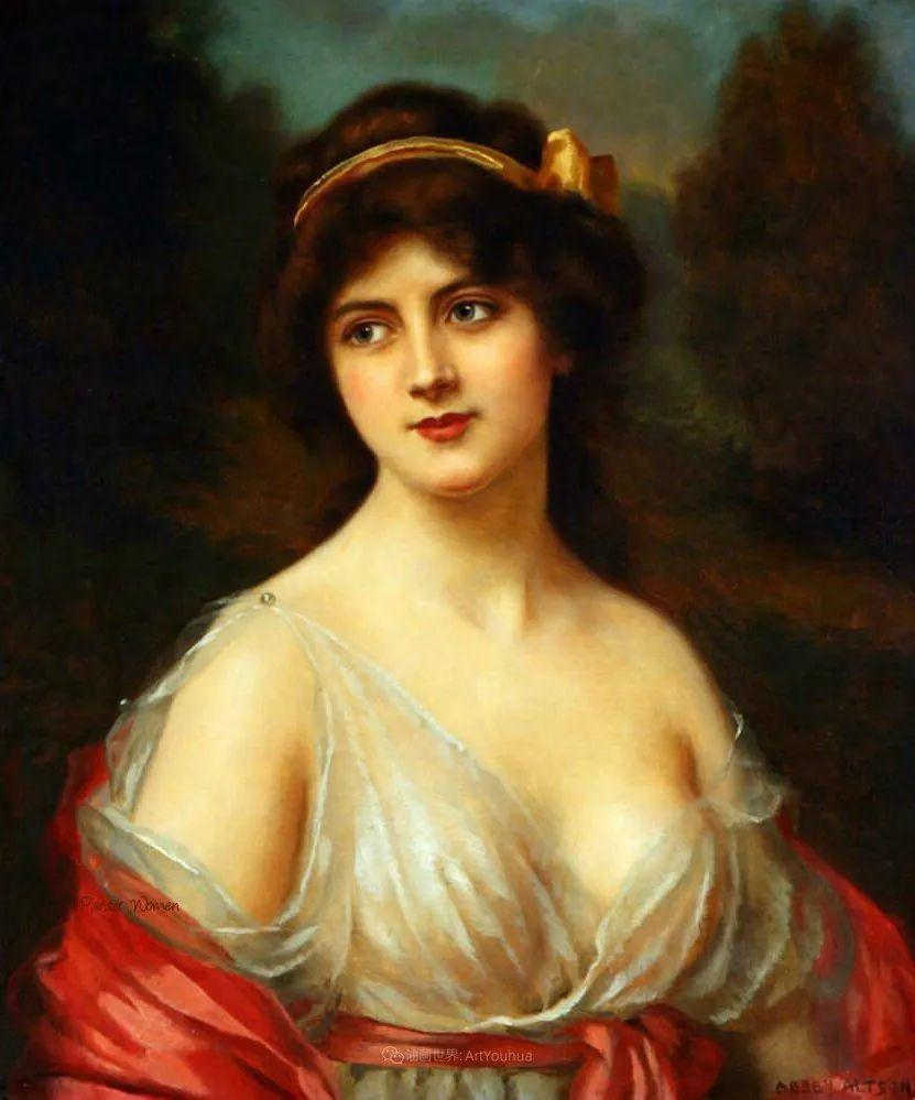 英国古典大师笔下,少女的肤色和薄纱,细腻柔和!插图4