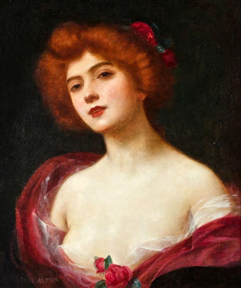 英国古典大师笔下,少女的肤色和薄纱,细腻柔和!插图6