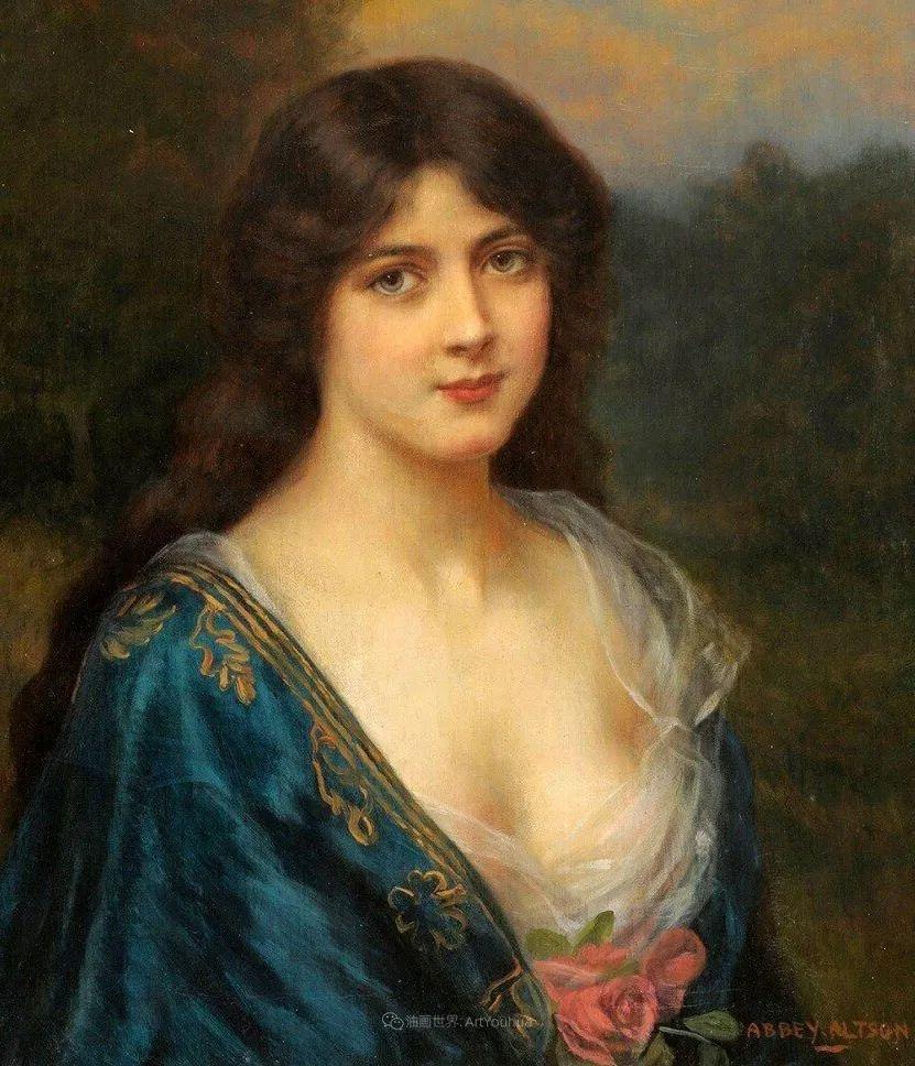 英国古典大师笔下,少女的肤色和薄纱,细腻柔和!插图7