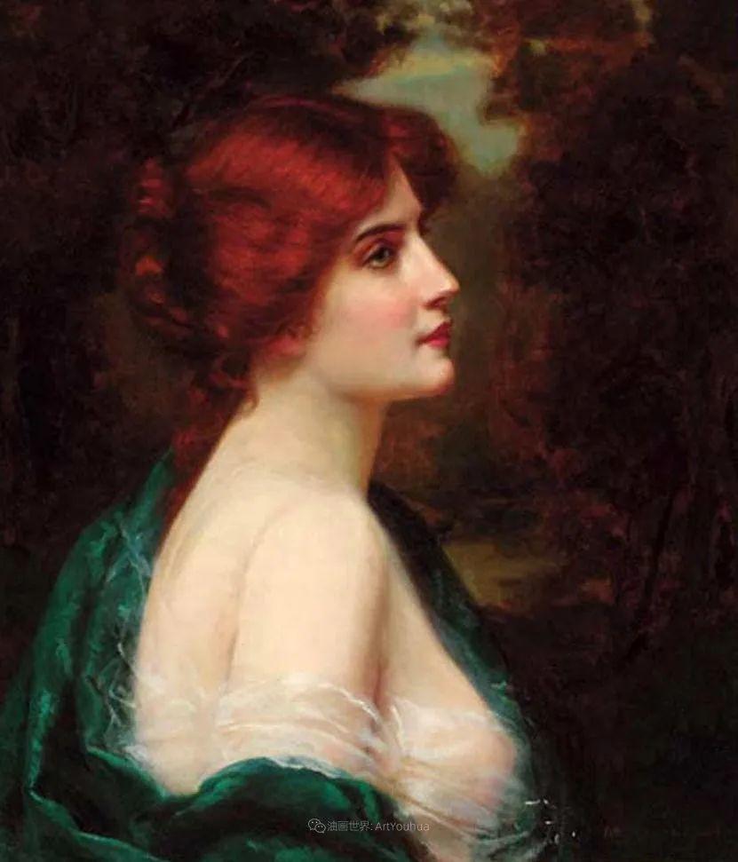 英国古典大师笔下,少女的肤色和薄纱,细腻柔和!插图8