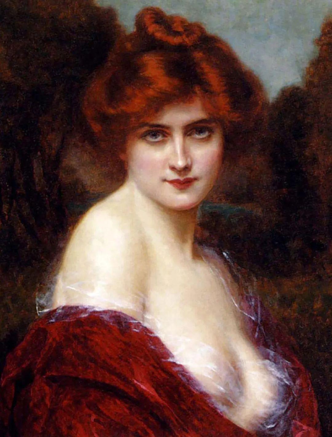 英国古典大师笔下,少女的肤色和薄纱,细腻柔和!插图9