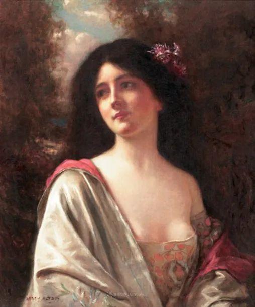 英国古典大师笔下,少女的肤色和薄纱,细腻柔和!插图12