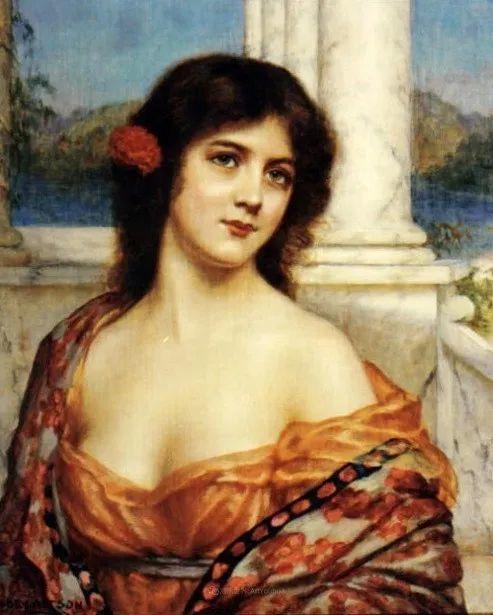 英国古典大师笔下,少女的肤色和薄纱,细腻柔和!插图13