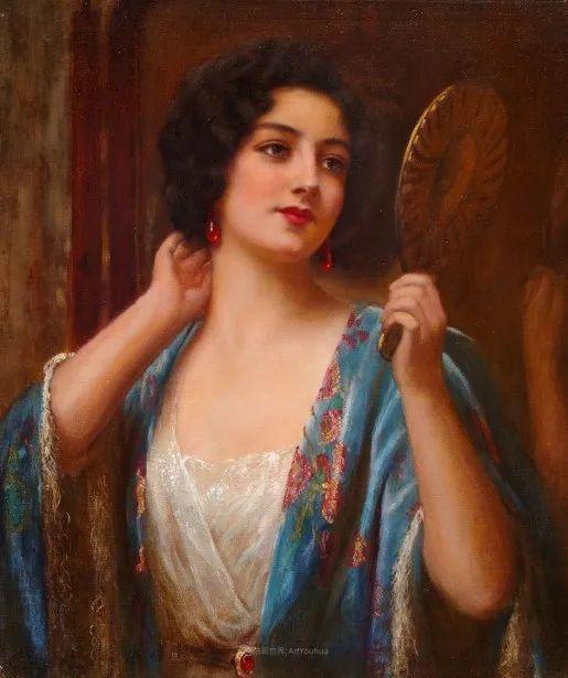 英国古典大师笔下,少女的肤色和薄纱,细腻柔和!插图14