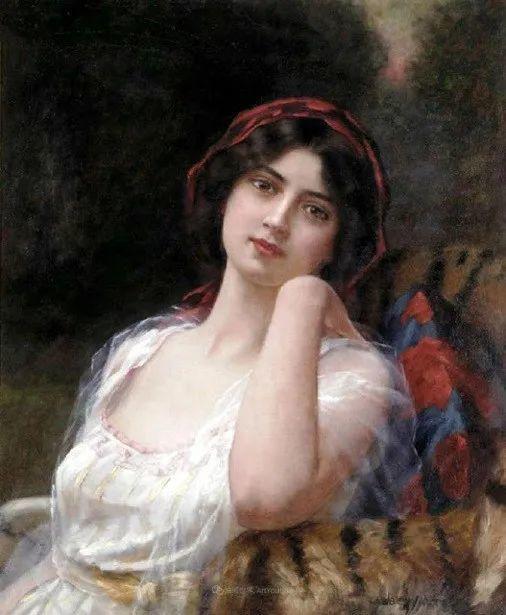 英国古典大师笔下,少女的肤色和薄纱,细腻柔和!插图15