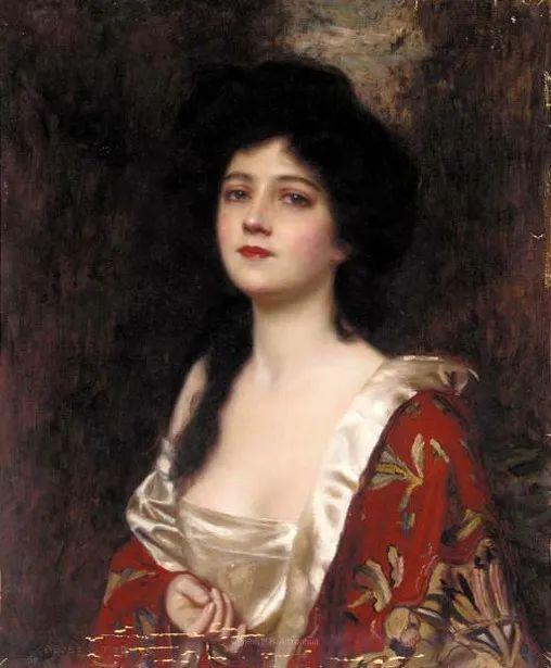 英国古典大师笔下,少女的肤色和薄纱,细腻柔和!插图16