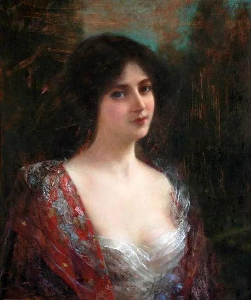 英国古典大师笔下,少女的肤色和薄纱,细腻柔和!插图17