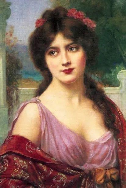 英国古典大师笔下,少女的肤色和薄纱,细腻柔和!插图20
