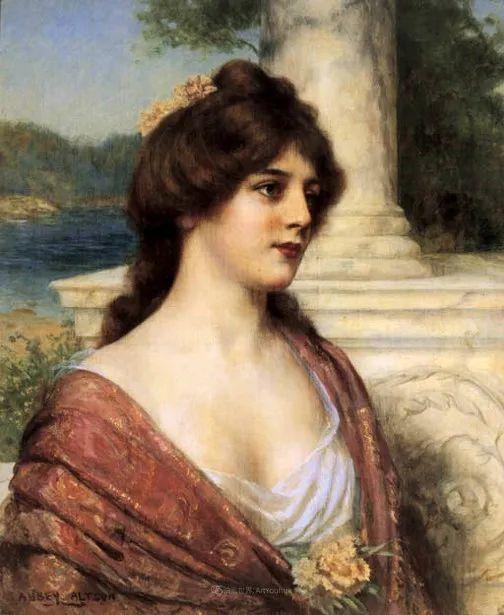 英国古典大师笔下,少女的肤色和薄纱,细腻柔和!插图22