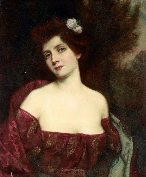 英国古典大师笔下,少女的肤色和薄纱,细腻柔和!插图25