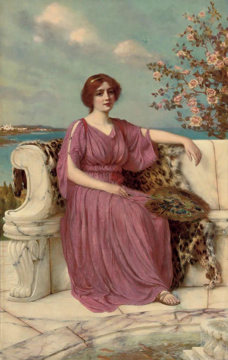英国古典大师笔下,少女的肤色和薄纱,细腻柔和!插图28