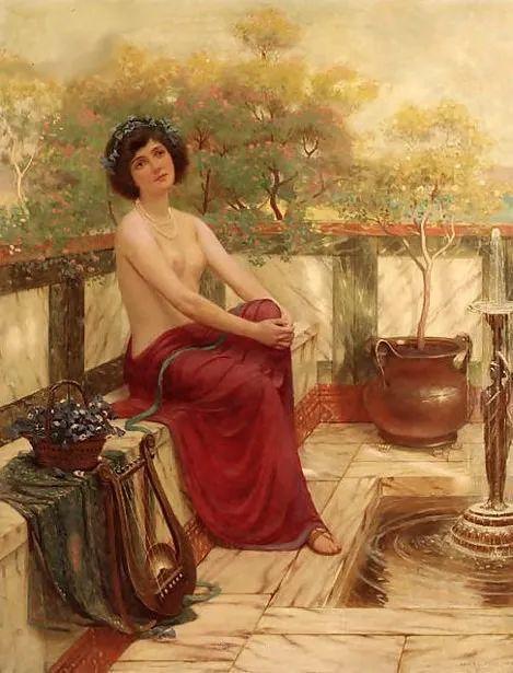 英国古典大师笔下,少女的肤色和薄纱,细腻柔和!插图29