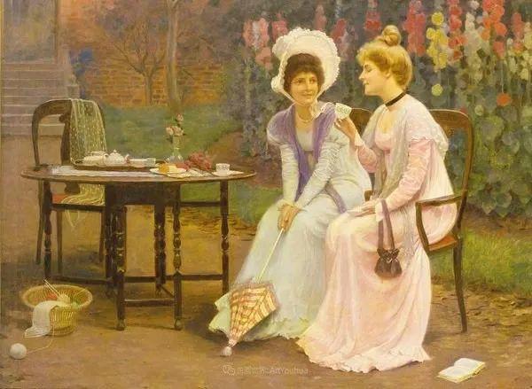 英国古典大师笔下,少女的肤色和薄纱,细腻柔和!插图33