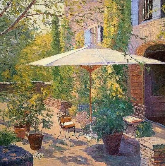 光与色的交响乐,美妙的花园景色插图