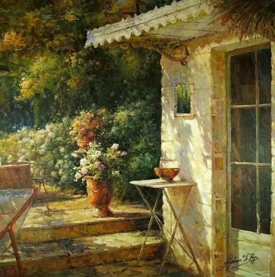 光与色的交响乐,美妙的花园景色插图2