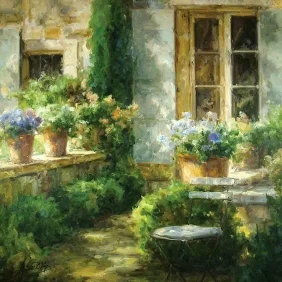 光与色的交响乐,美妙的花园景色插图3