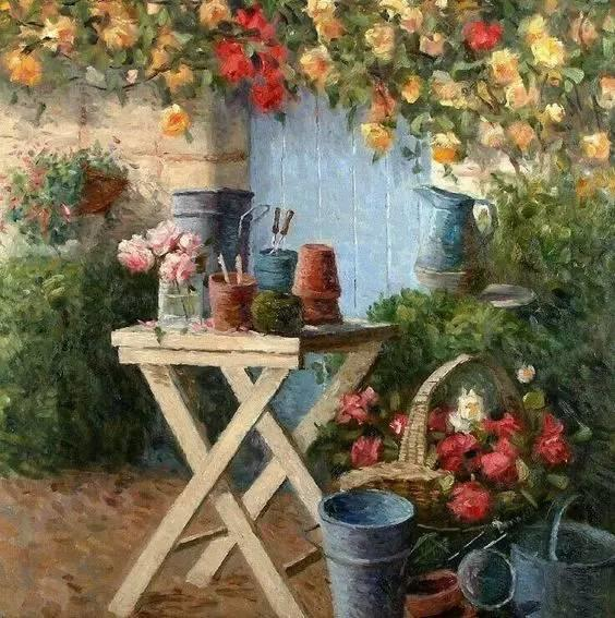 光与色的交响乐,美妙的花园景色插图28