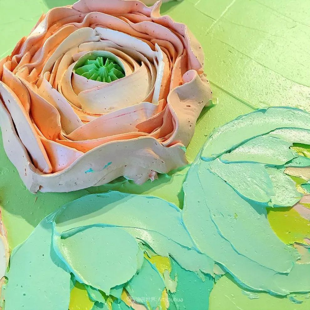 她让油画颜料像奶油,绘出厚重富有立体感的花卉,惊艳!插图9
