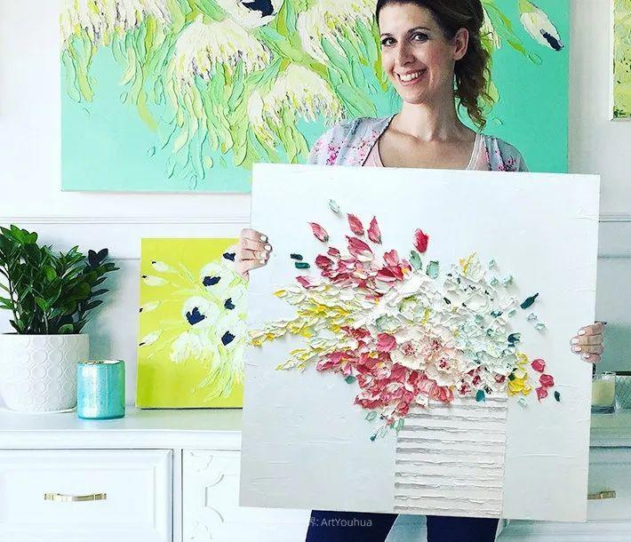 她让油画颜料像奶油,绘出厚重富有立体感的花卉,惊艳!插图13