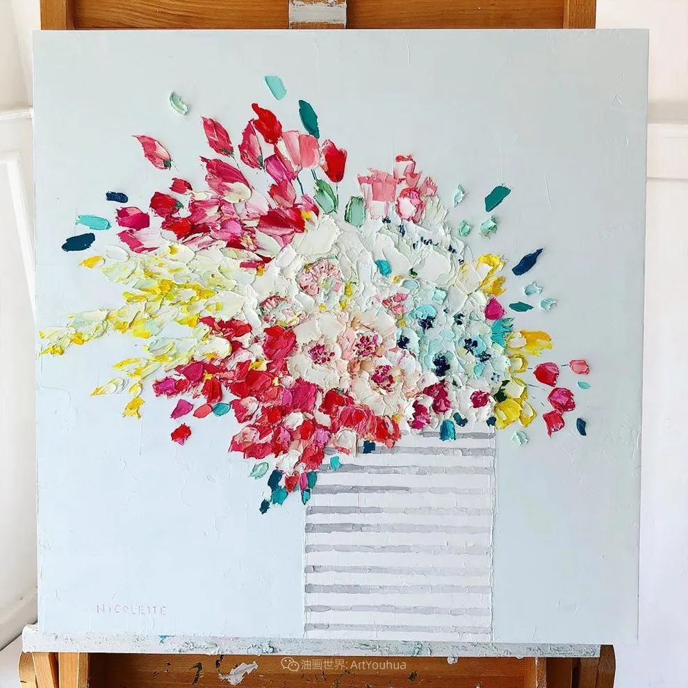 她让油画颜料像奶油,绘出厚重富有立体感的花卉,惊艳!插图15