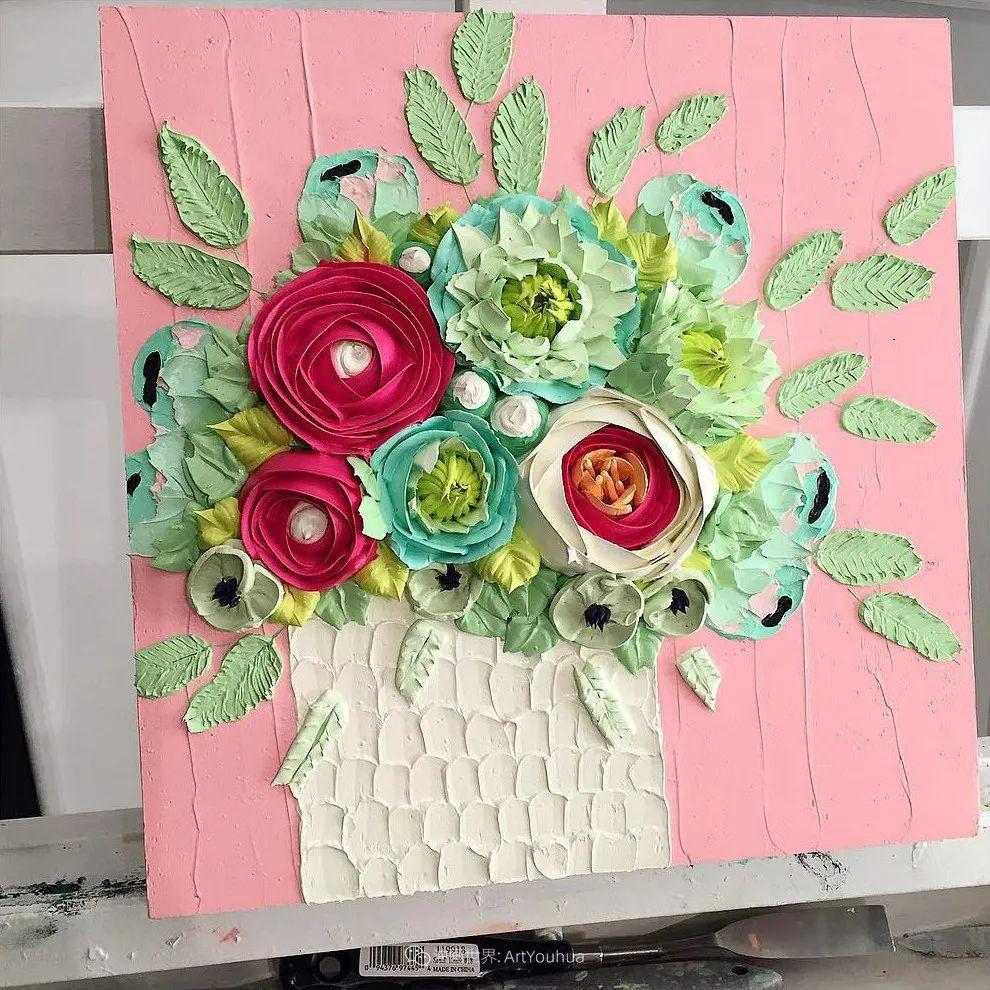 她让油画颜料像奶油,绘出厚重富有立体感的花卉,惊艳!插图17