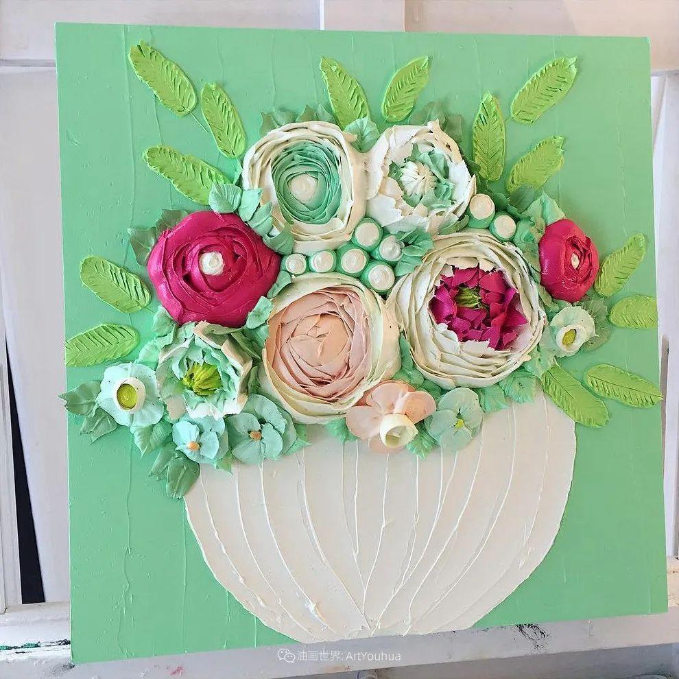 她让油画颜料像奶油,绘出厚重富有立体感的花卉,惊艳!插图19