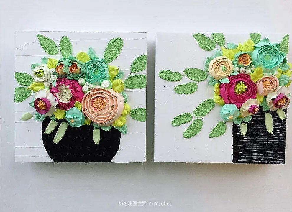 她让油画颜料像奶油,绘出厚重富有立体感的花卉,惊艳!插图21