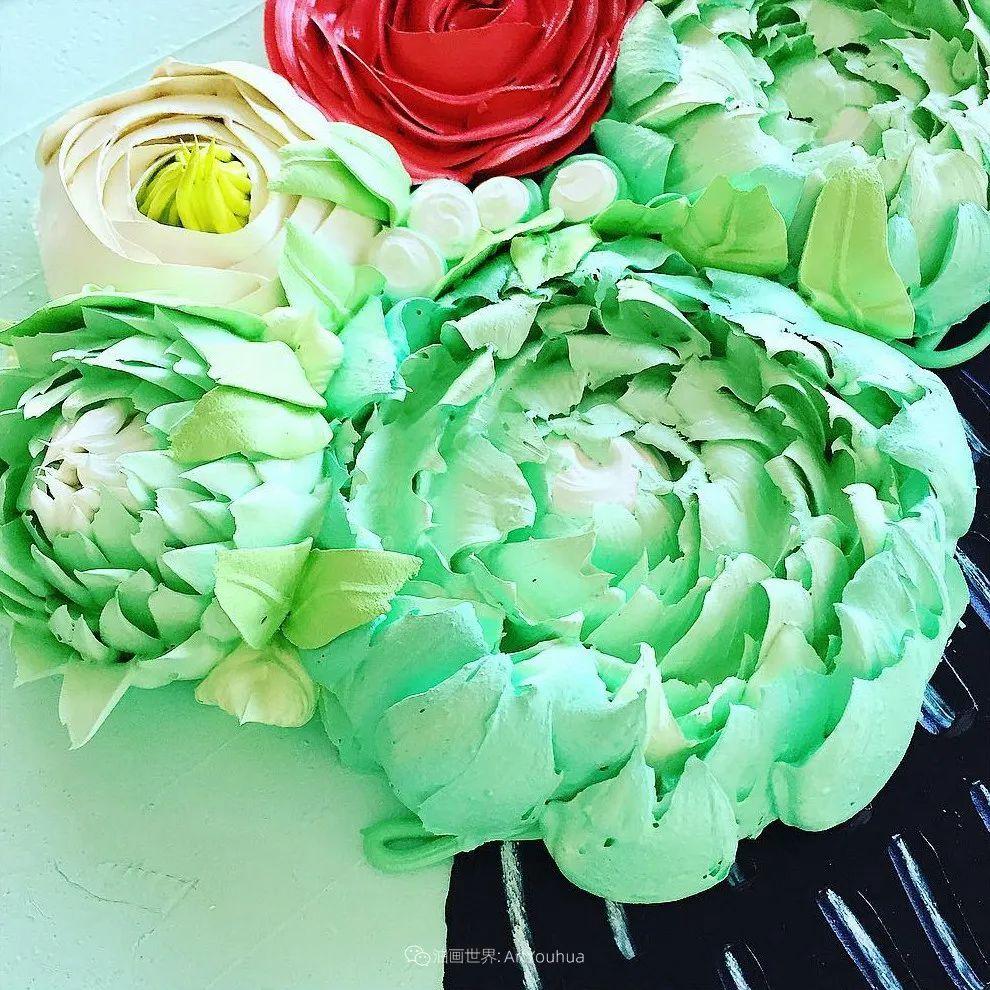 她让油画颜料像奶油,绘出厚重富有立体感的花卉,惊艳!插图25