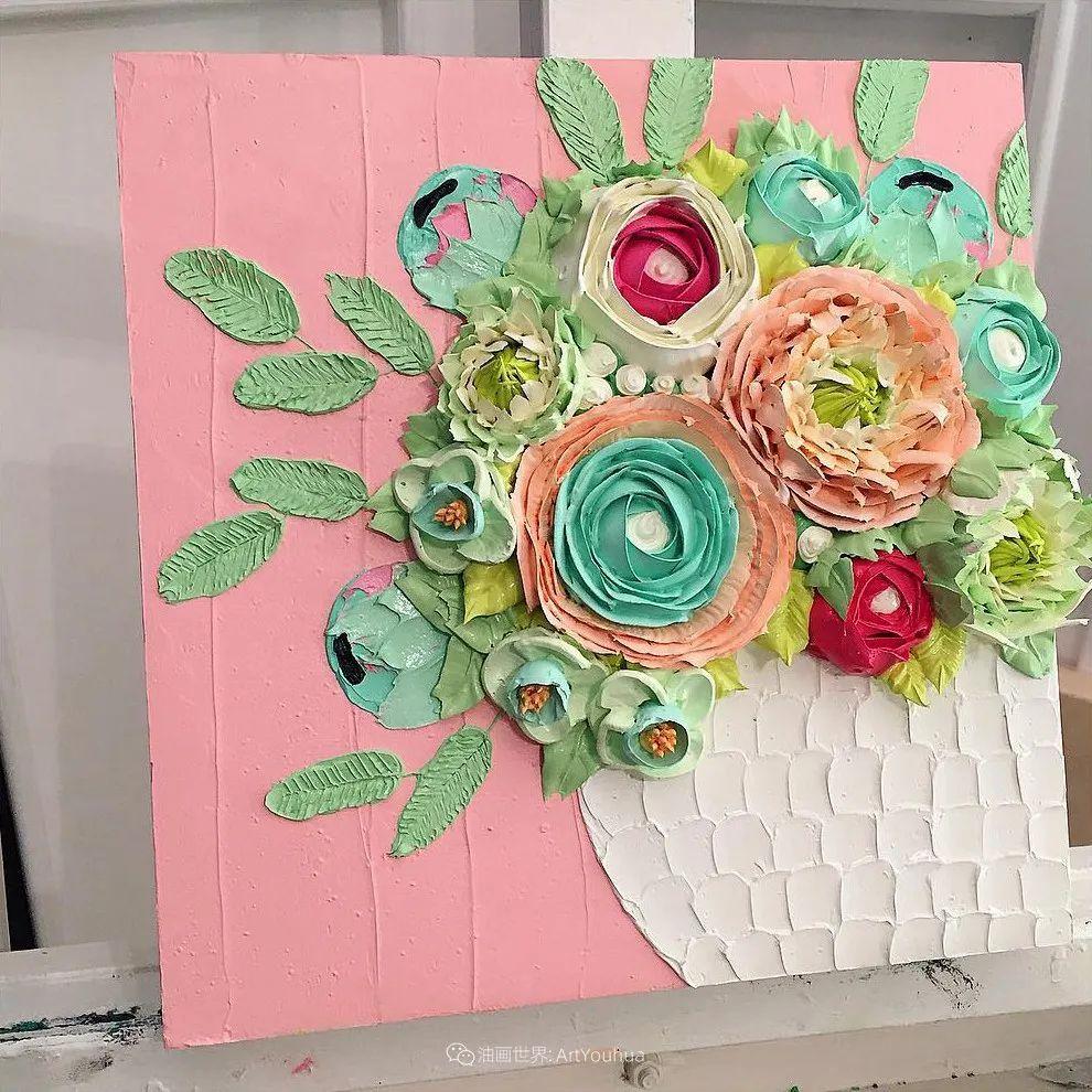 她让油画颜料像奶油,绘出厚重富有立体感的花卉,惊艳!插图39