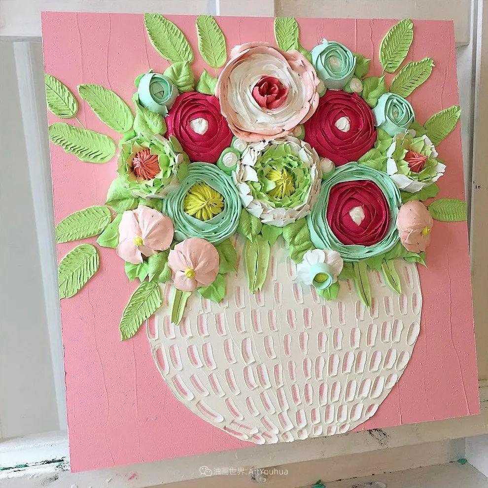 她让油画颜料像奶油,绘出厚重富有立体感的花卉,惊艳!插图41