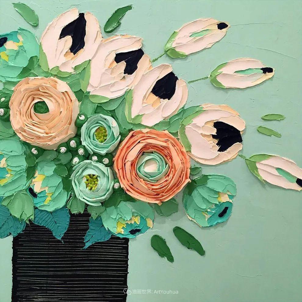 她让油画颜料像奶油,绘出厚重富有立体感的花卉,惊艳!插图43