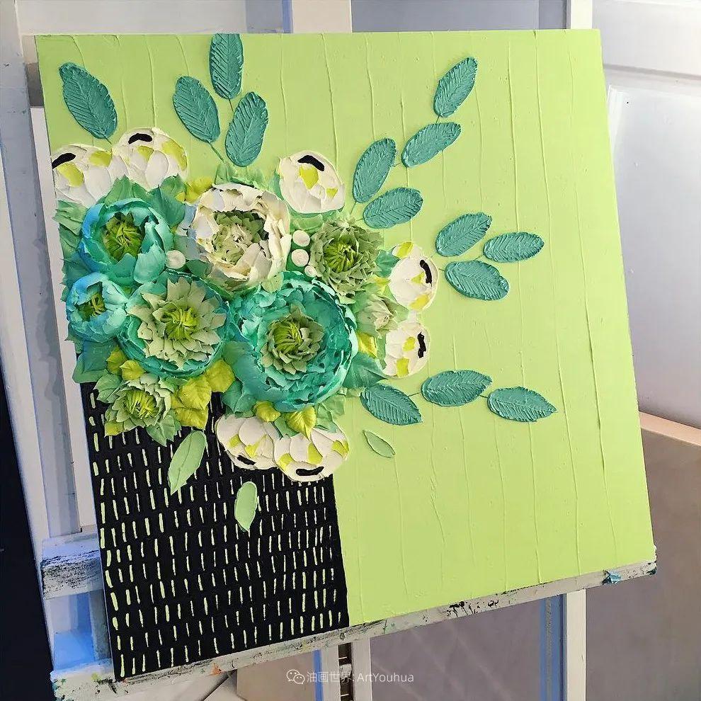 她让油画颜料像奶油,绘出厚重富有立体感的花卉,惊艳!插图49
