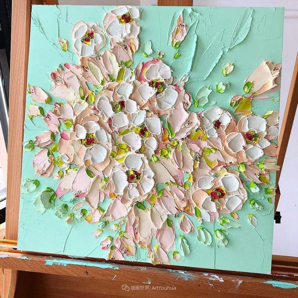 她让油画颜料像奶油,绘出厚重富有立体感的花卉,惊艳!插图51