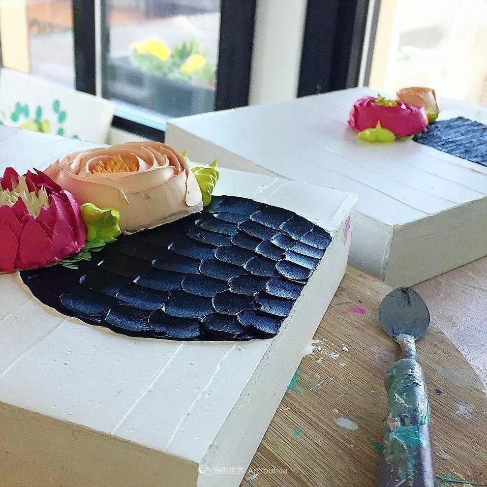 她让油画颜料像奶油,绘出厚重富有立体感的花卉,惊艳!插图53
