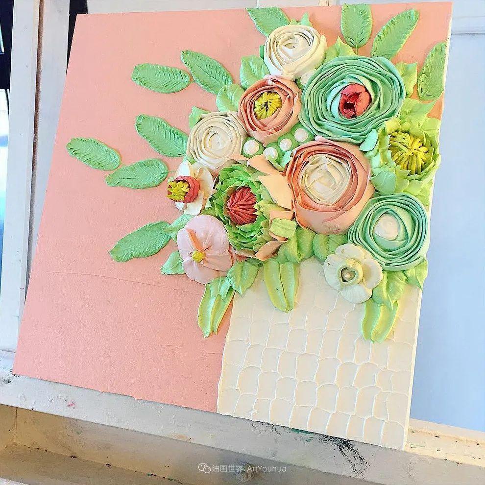 她让油画颜料像奶油,绘出厚重富有立体感的花卉,惊艳!插图55