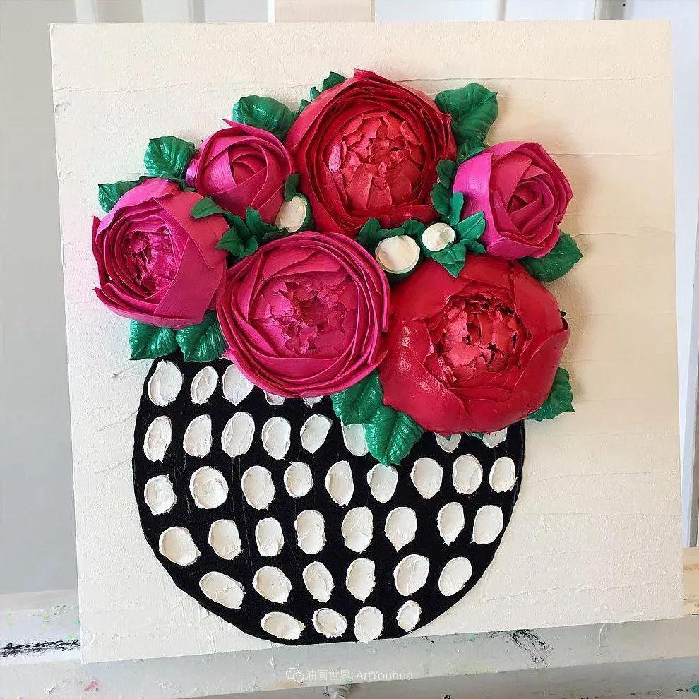 她让油画颜料像奶油,绘出厚重富有立体感的花卉,惊艳!插图57