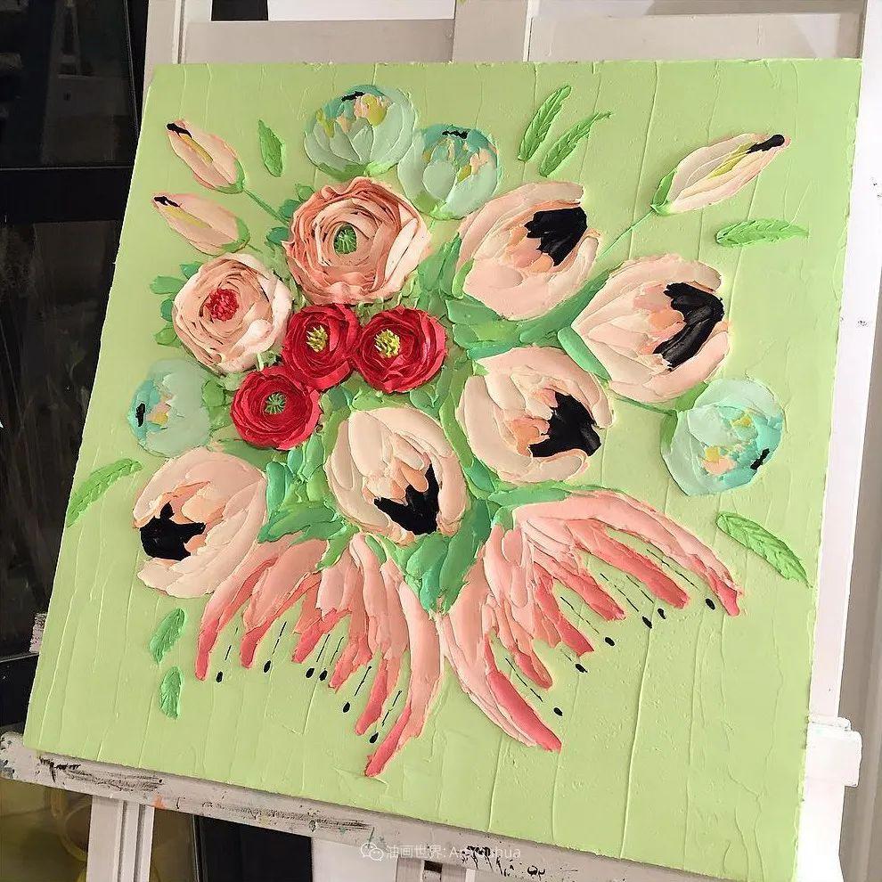 她让油画颜料像奶油,绘出厚重富有立体感的花卉,惊艳!插图61