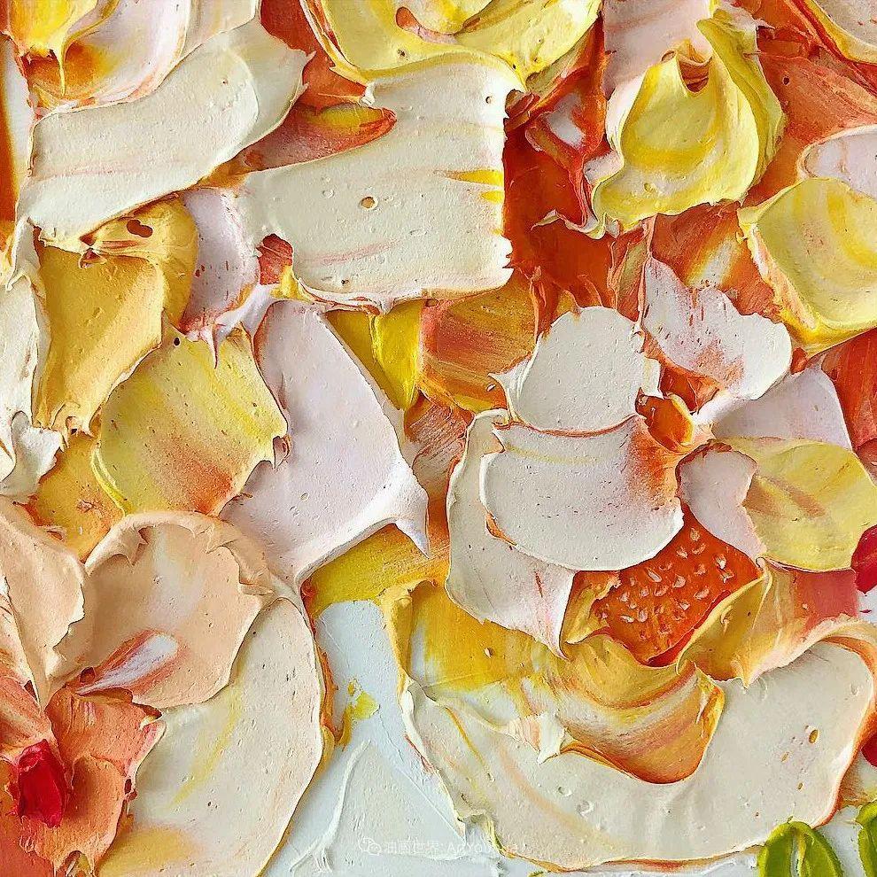 她让油画颜料像奶油,绘出厚重富有立体感的花卉,惊艳!插图63
