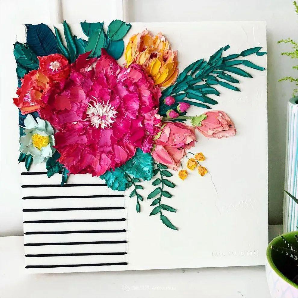她让油画颜料像奶油,绘出厚重富有立体感的花卉,惊艳!插图67