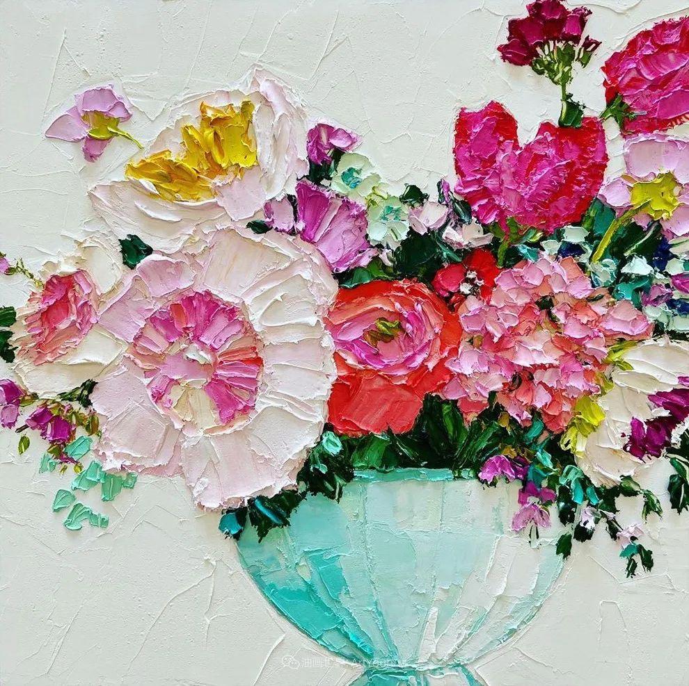 她让油画颜料像奶油,绘出厚重富有立体感的花卉,惊艳!插图69
