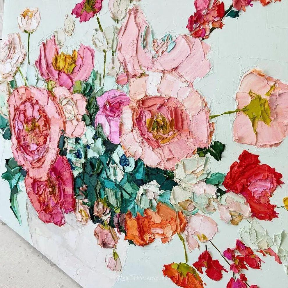 她让油画颜料像奶油,绘出厚重富有立体感的花卉,惊艳!插图71