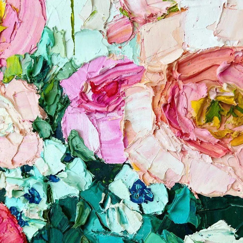 她让油画颜料像奶油,绘出厚重富有立体感的花卉,惊艳!插图73