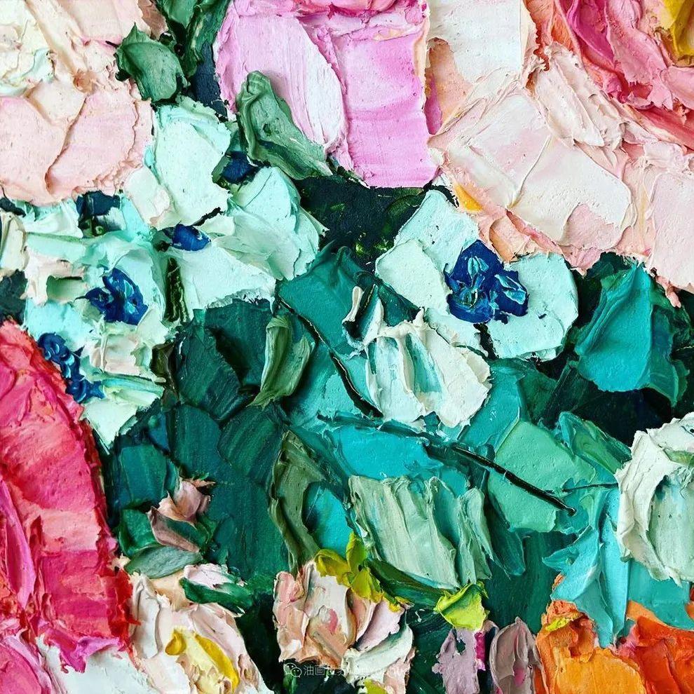 她让油画颜料像奶油,绘出厚重富有立体感的花卉,惊艳!插图75