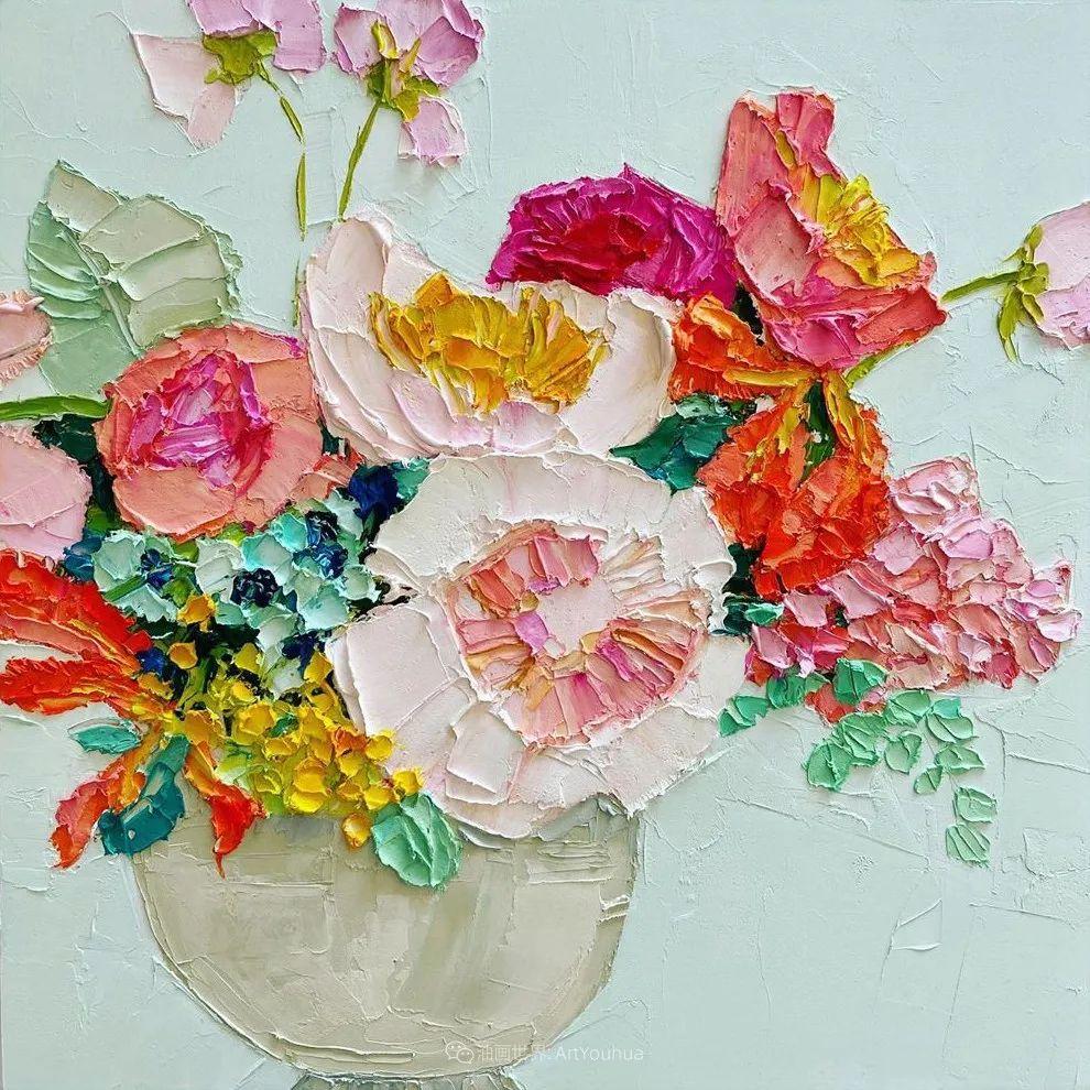 她让油画颜料像奶油,绘出厚重富有立体感的花卉,惊艳!插图77