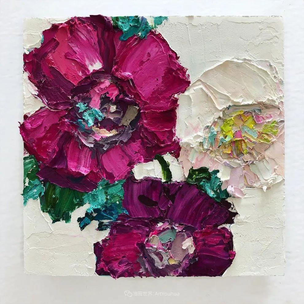 她让油画颜料像奶油,绘出厚重富有立体感的花卉,惊艳!插图81