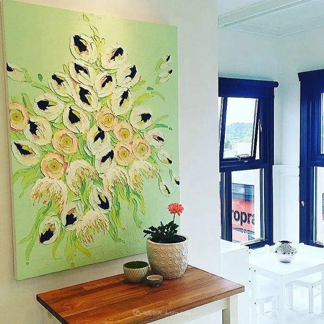 她让油画颜料像奶油,绘出厚重富有立体感的花卉,惊艳!插图85