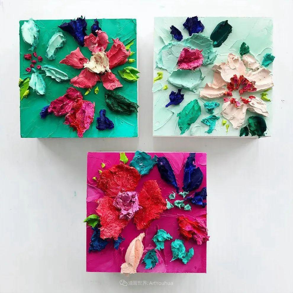 她让油画颜料像奶油,绘出厚重富有立体感的花卉,惊艳!插图87