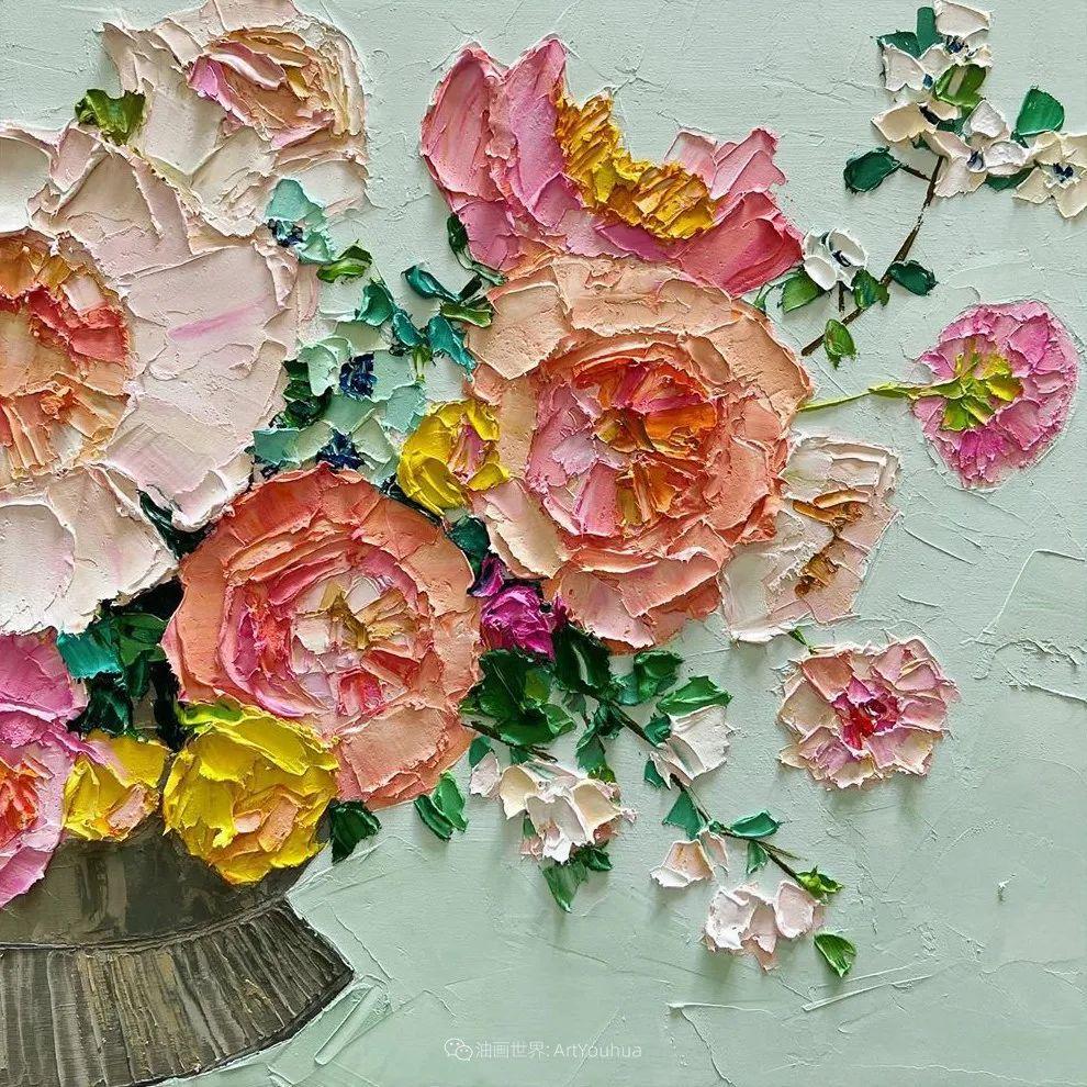 她让油画颜料像奶油,绘出厚重富有立体感的花卉,惊艳!插图91