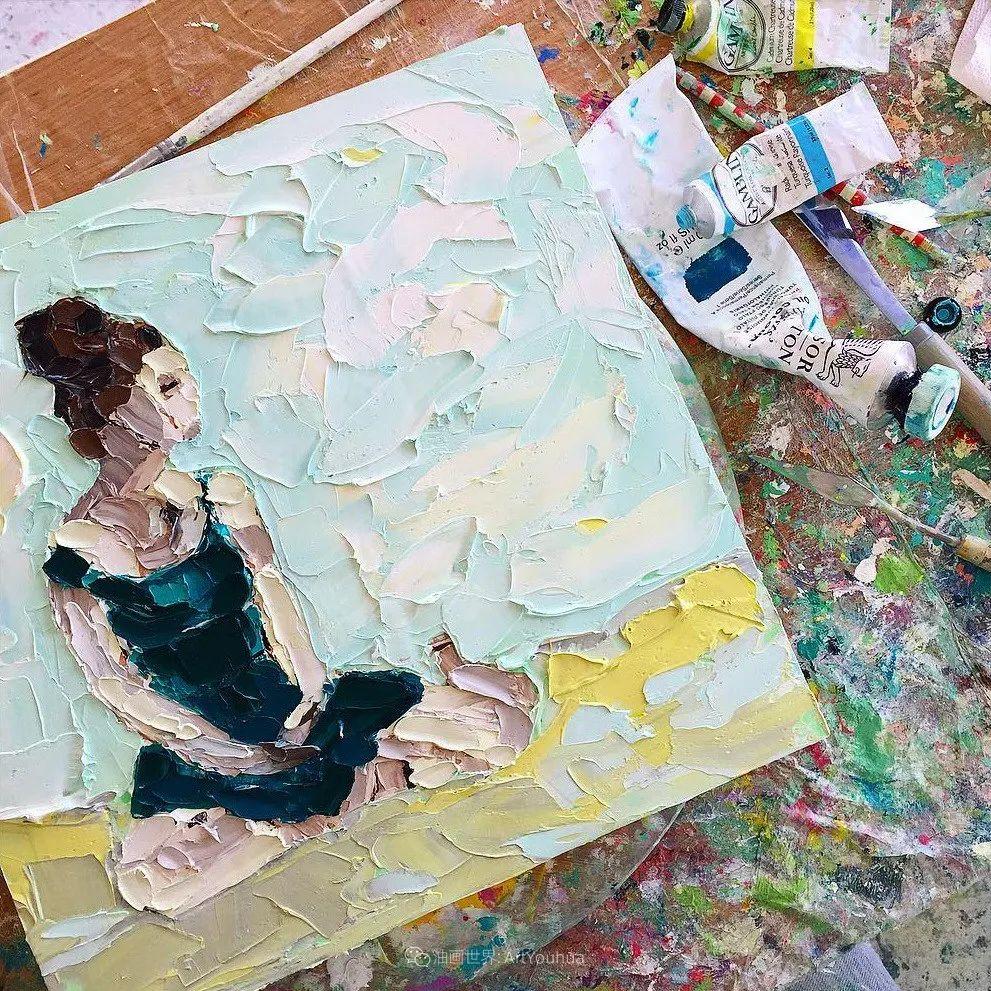 她让油画颜料像奶油,绘出厚重富有立体感的花卉,惊艳!插图93